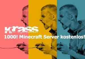 1000 Minecraft Server einen Monat kostenlos mit Gutschein bei uns
