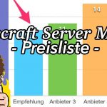 Minecraft Server Mieten Preisliste für 1,6, und 12 Monate Prepaid