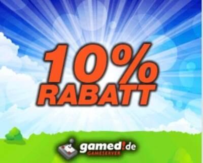 gamed!de Gameserver Gutschein 10%
