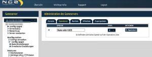NGZ Webinterface Server