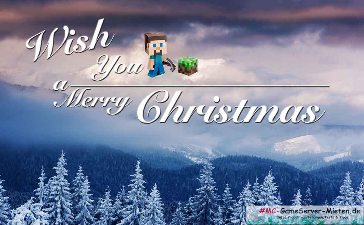 Frohe Weihnachten von MC-Gamesevrer-mieten.de - Neuste Infos und Gutscheine für eure Gameserver