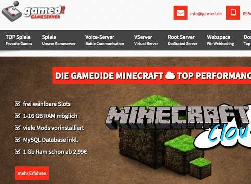 In unserem SPOTLIGHT: gamed!de Gameserver – TOP5 Minecraft Server Mieten