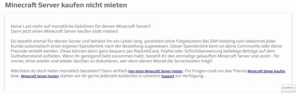 Minecraft Server Kaufen Oder Lieber Doch Mieten Was Lohnt Sich Eher - Minecraft server erstellen funktioniert nicht