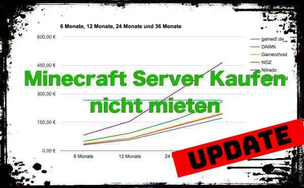 Minecraft Server Kaufen Oder Lieber Doch Mieten Was Lohnt Sich Eher - Eigenen minecraft server erstellen nitrado