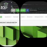 ZAP-HOSTING.DE Minecraft und GAMESERVER Screenshot und Logo