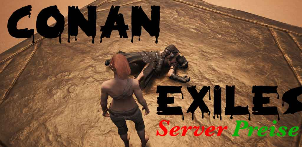 Frau steht auf Plateau bei Conan Exiles und sieht toten krieger
