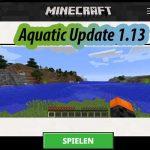 Aquatic-Update 1.13 Start-Bildschirm