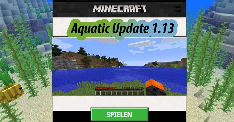 Aquatic-Update 1.13 Start-Bildschirm