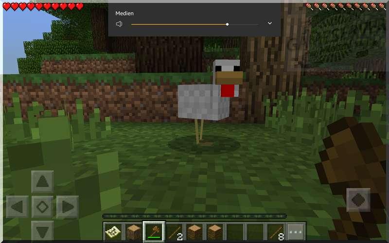 Minecraft Wald mit Huhn auf Lifeboat