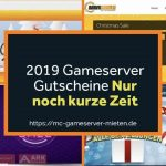 Gutscheine Gameserver 2019 Rabattaktion